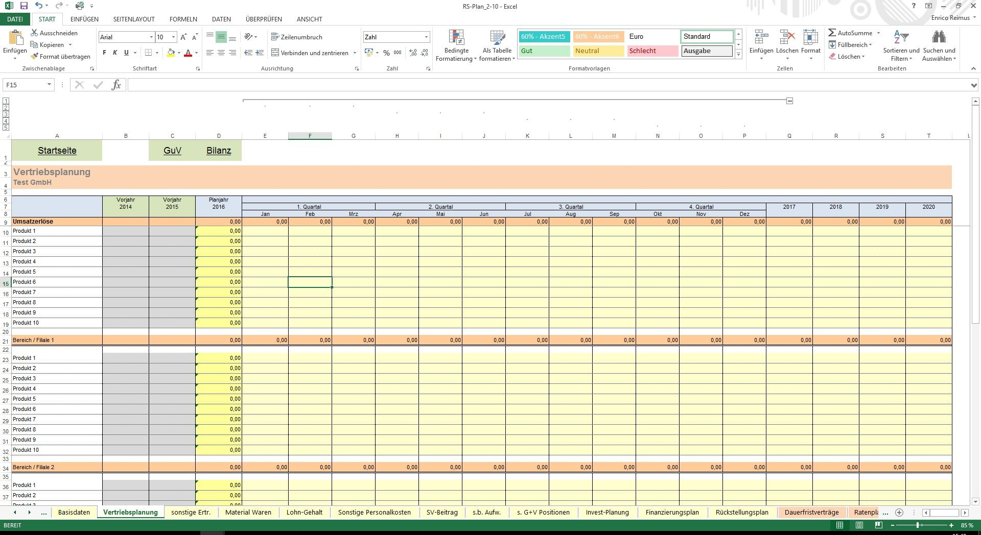 Großzügig Excel Jahresbudget Vorlage Zeitgenössisch - Entry Level ...