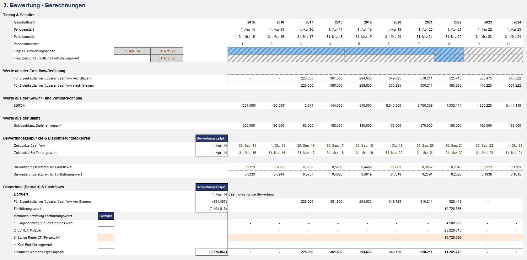 Excel tool unternehmensbewertung valuation box for Berechnung windlast beispiel
