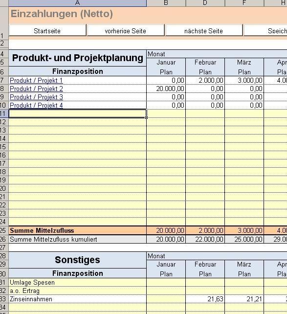 excel tool liquidit tsplanung vorlage f r die planung