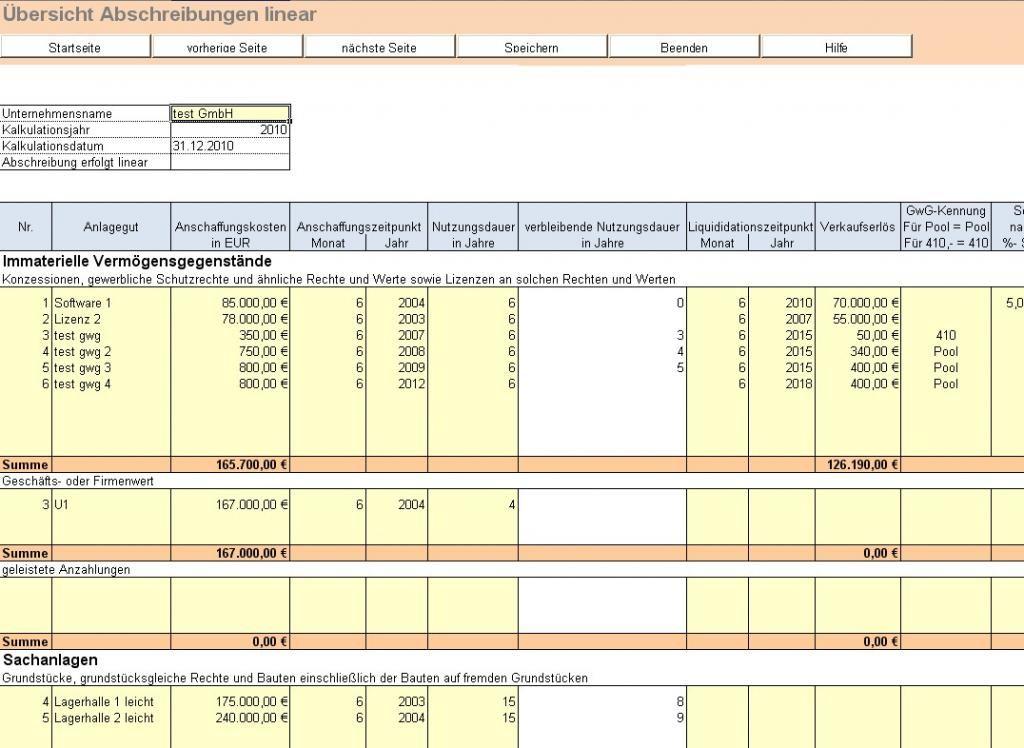 Anlagenverwaltung in Excel - Excel-Tool zur Verwaltung des ...