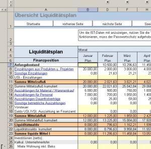 Excel Tool Liquiditatsplanung Vorlage Fur Die Planung Ihrer Liquiditat