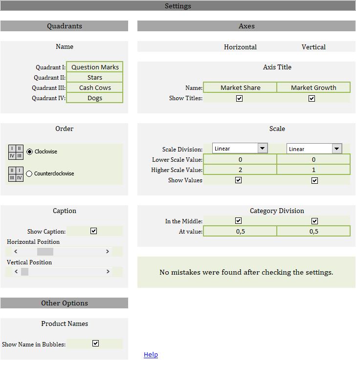 Excel Tool: Template for a portfolio matrix (BCG matrix)