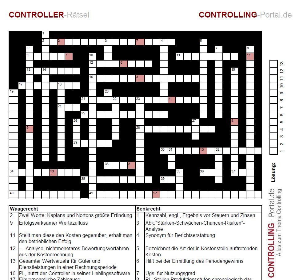 Kreuzworträtsel für Controller