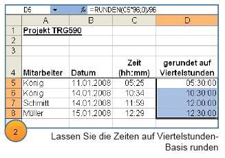 Excel-Tipp: So runden Sie Zeiten ganz einfach